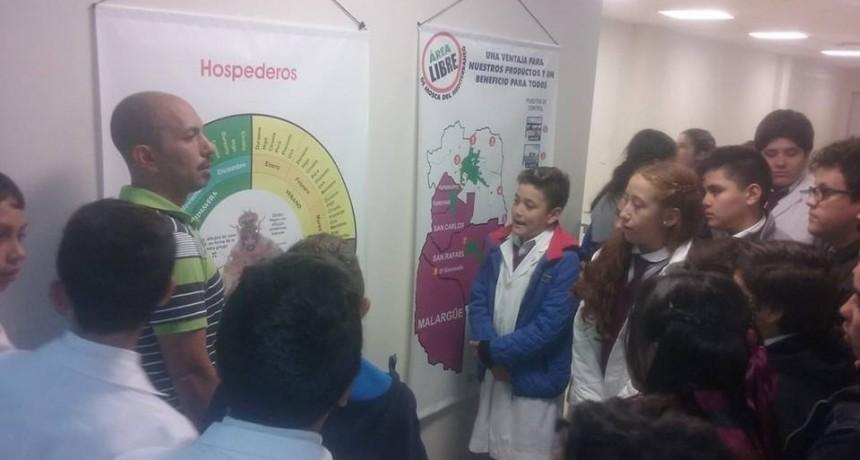 Alumnos de la escuela Raffo de Santa Rosa visitaron la bioplanta experimental del ISCAMEN