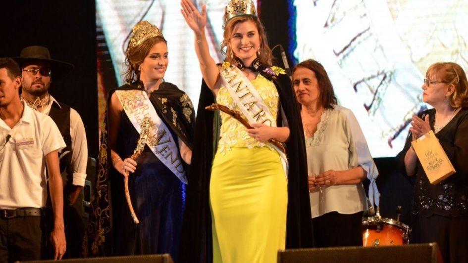 Florencia Violino es la nueva Reina Vendimial de Santa Rosa