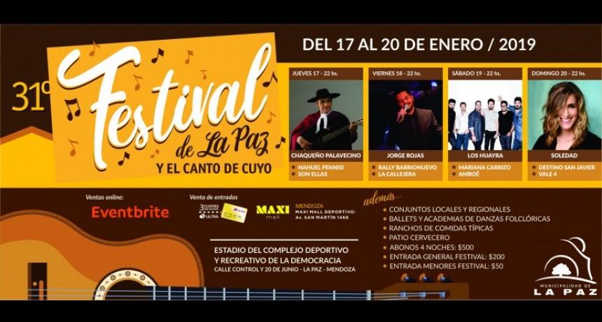 La Paz ya palpita el 31° Festival de La Paz y el Canto de Cuyo