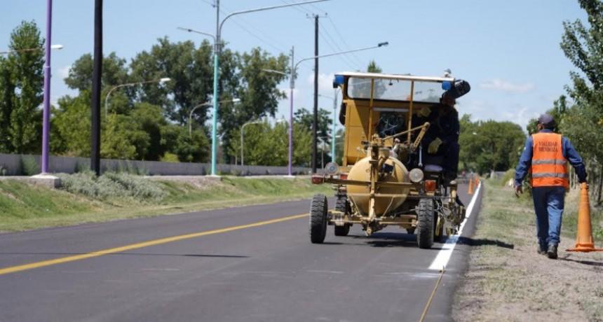 Rivadavia: Avanzan las obras en calles Falucho y Primavera