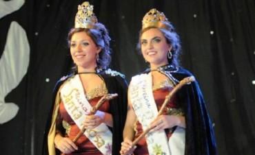Flor José y Evangelina Román, reina y virreina departamental de Santa Rosa