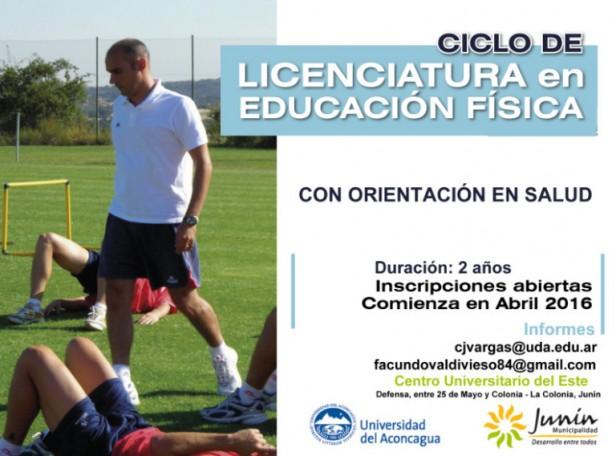 Junín suma la Licenciatura en Educación Física con Orientación en Salud