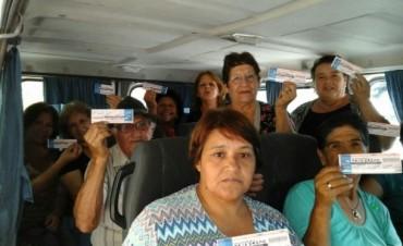 Acción solidaria para adultos mayores en Vendimia