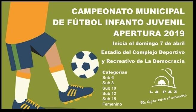 El municipio paceño lanzó el Campeonato Municipal de Fútbol Infanto Juvenil Apertura 2019