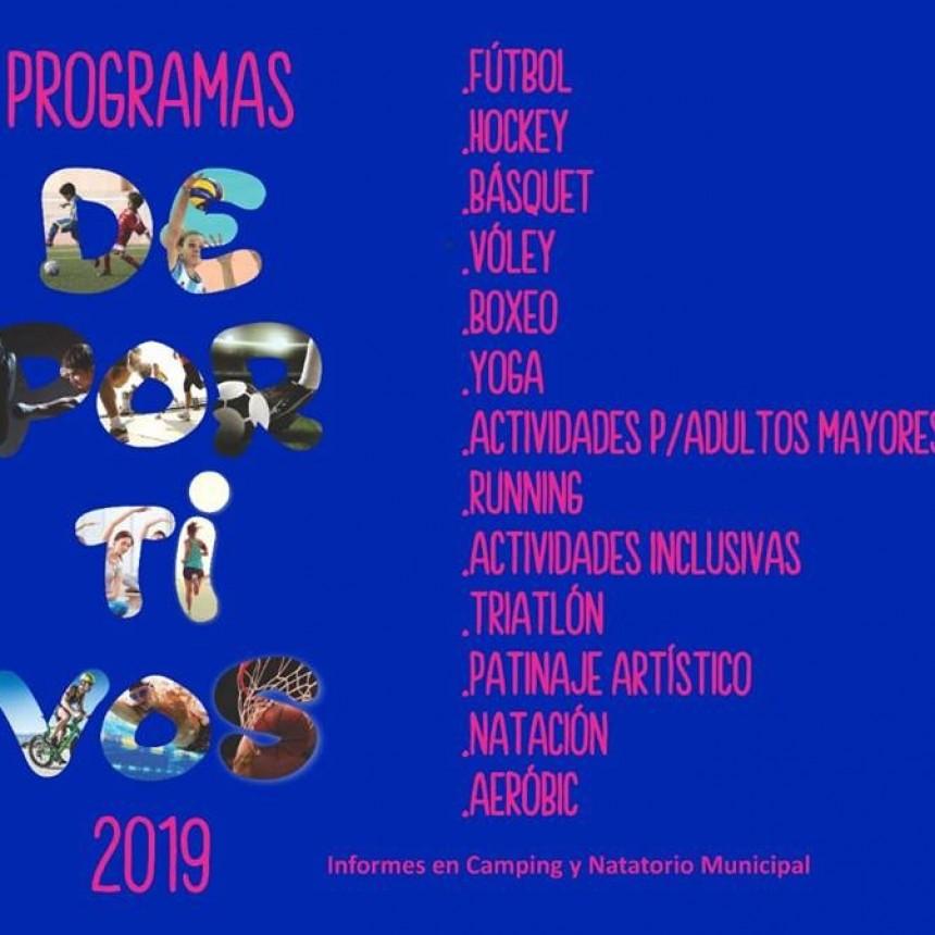 Se abrió la inscripción para los programas deportivos municipales 2019