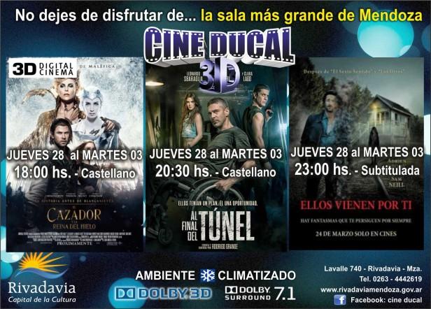 Cine Ducal presenta tres grandes estrenos para disfrutar