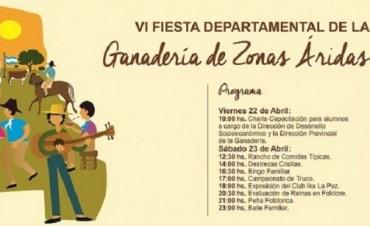 Hoy sábado 23 se celebra en la Gloriosa la 6° Fiesta Departamental de la Ganadería de Zonas Áridas
