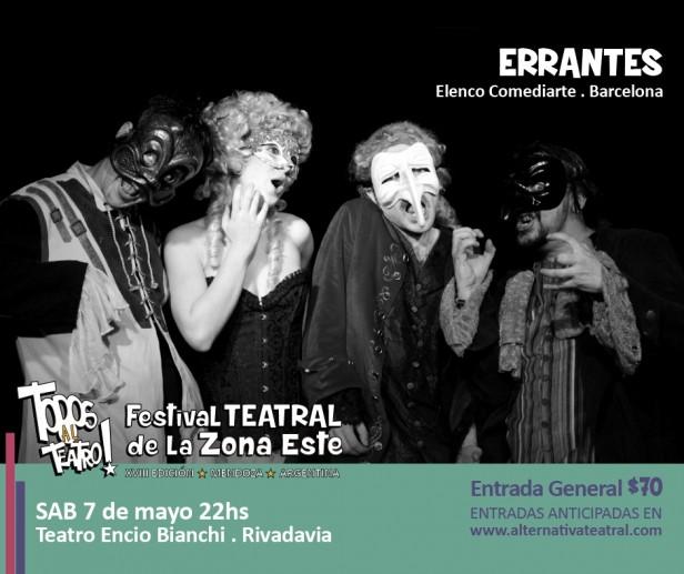 """Este sabado el Festival 'Todos al Teatro' presenta la obra """"Errantes"""""""