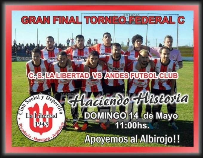 La Libertad juega la gran final del Torneo Federal C el domingo