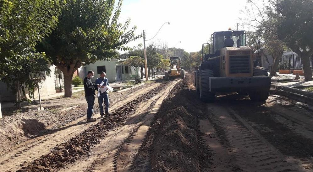 Plan de asfalto Rivadavia 2020, comenzaron las obras previas a pavimentación en B° Florida