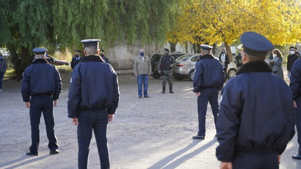 Cadetes del Instituto de Seguridad Pública se sumaron al control de las calles en Junín