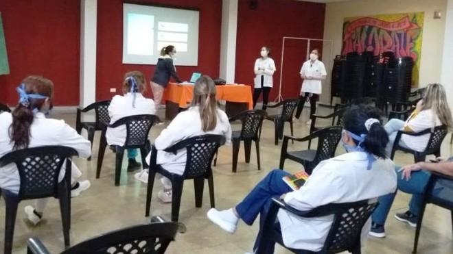 Salud Mental capacitó al personal sobre COVID-19 , en Rivadavia