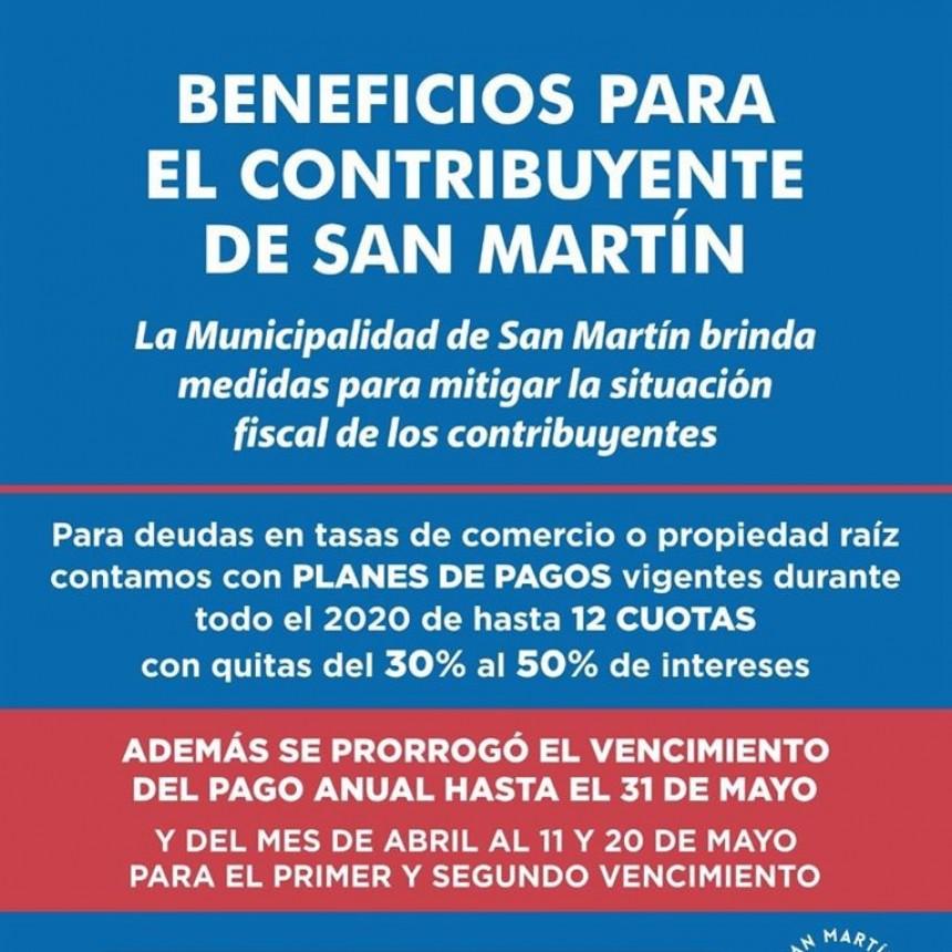 San Martín: Vencimiento de tasas municipales