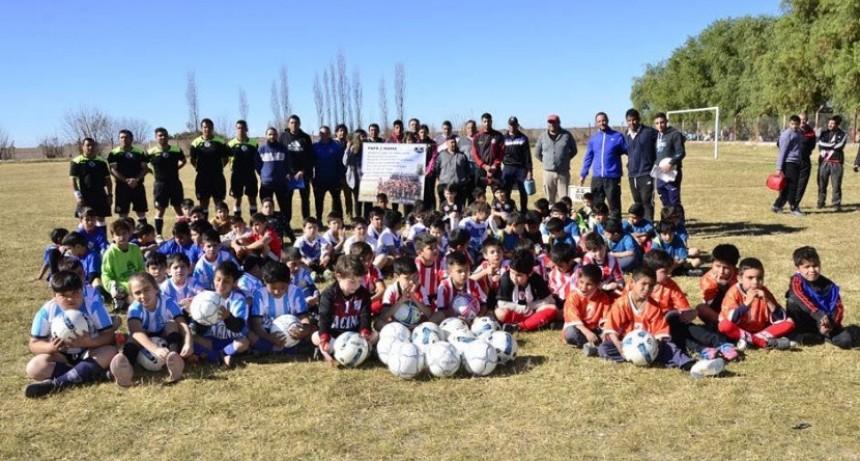 Rivadavia: Se puso en marcha el torneo municipal de fútbol infantil