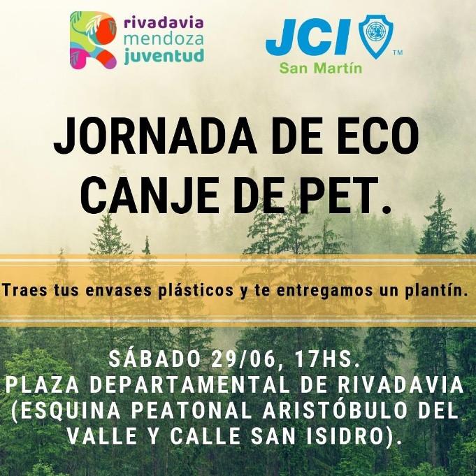 Rivadavia: Jornada de Eco-Canje de Pet