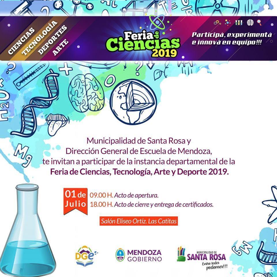Santa Rosa: Feria de Ciencias, Arte, Tecnología y Deportes 2019, instancia departamental