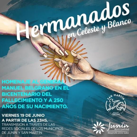 Junín y San Martín realizarán un homenaje por el bicentenario de la muerte de General Manuel Belgrano