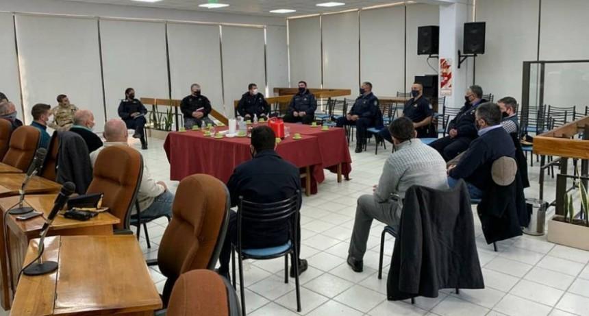 Ronco se reunió con el HCD y fuerzas de seguridad pública