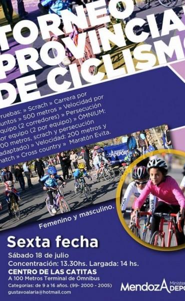 Se disputó la sexta fecha del Provincial de Ciclismo