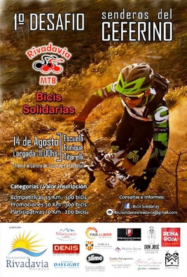 Rivadavia: 1° Desafío Senderos del Ceferino