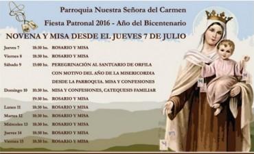 Fiesta Patronal de la Parroquia Nuestra Señora del Carmen en San Martín