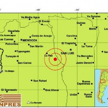 Este martes se registró un temblor con epicentro en La Paz