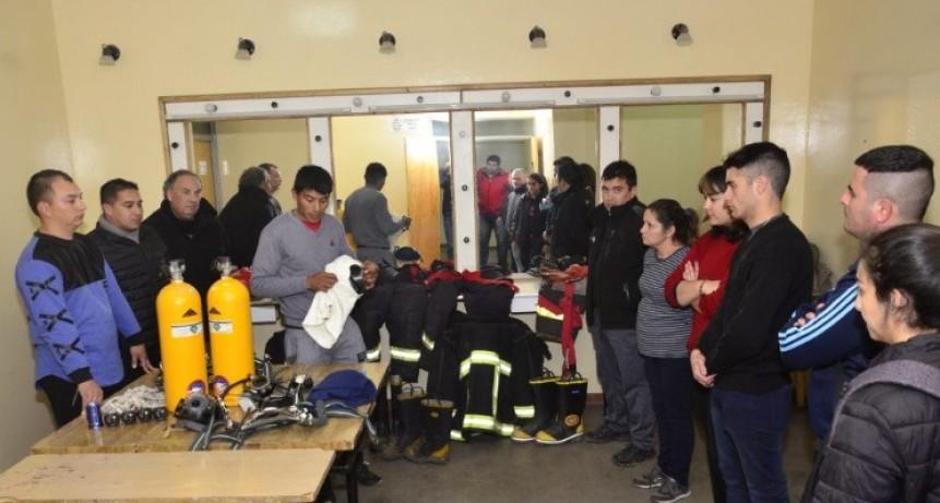 Capacitación para bomberos en Rivadavia