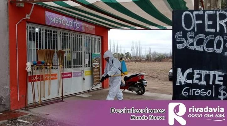 Trabajos preventivos de desinfección en Distrito Mundo Nuevo