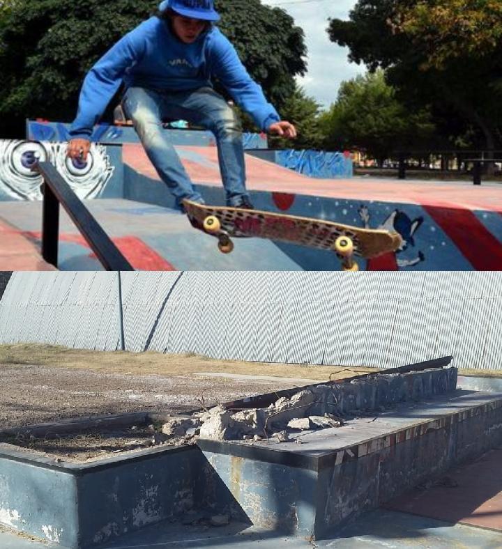 Santa Rosa y su pista de skate, una inversión cara y ahora abandonada