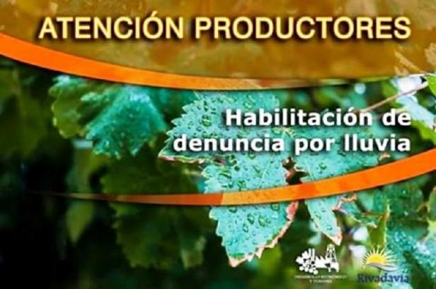 Información importante a productores afectados por la lluvia