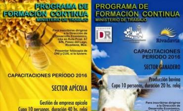 Inscripciones para el 'Programa de Formación Continua' en Rivadavia