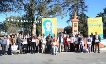 Emotivo acto en homenaje al Gral. José de San Martín se vivio en La Paz