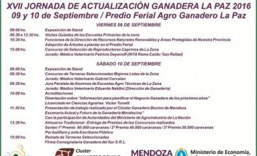 Todo listo para la XVIIº Jornada de Actualización Ganadera La Paz 2016