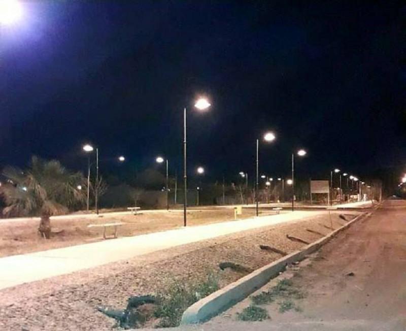 Rivadavia: Finalizó la obra de iluminación en el Boulevard Sargento Cabral