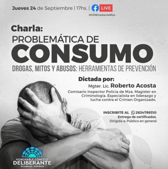 Charla Online| Problemáticas de consumo- Drogas, mitos y abusos: herramientas de prevención
