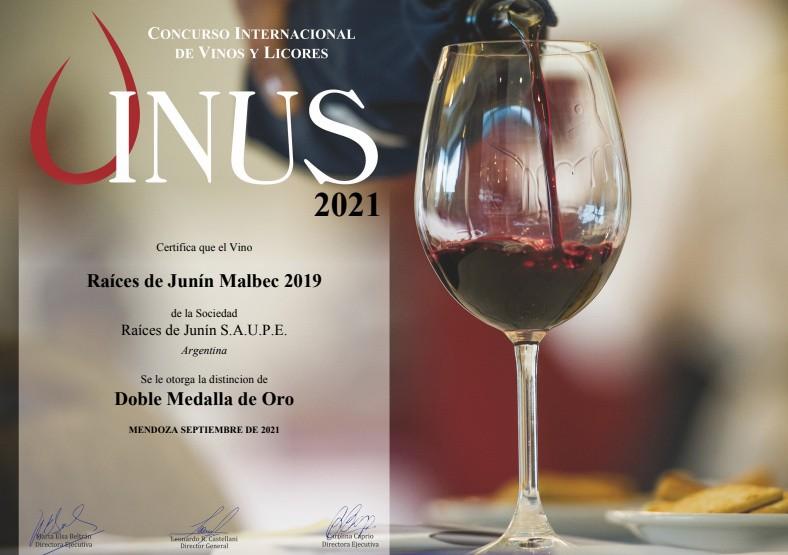 Premio internacional: doble medalla de oro para vinos de la Bodega Municipal Raíces de Junín