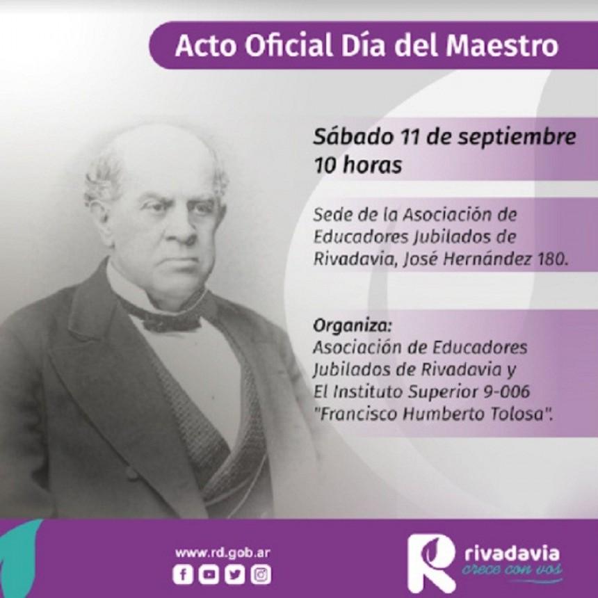 Rivadavia rendirá homenaje a Sarmiento
