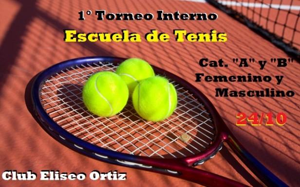 Hoy comienza el 1° Torneo Interno de Tenis del Club Eliseo Ortiz