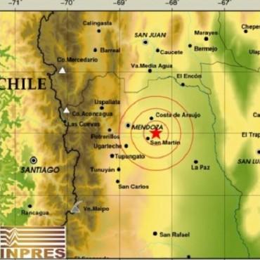 Sismo en Mendoza con epicentro en San Martín