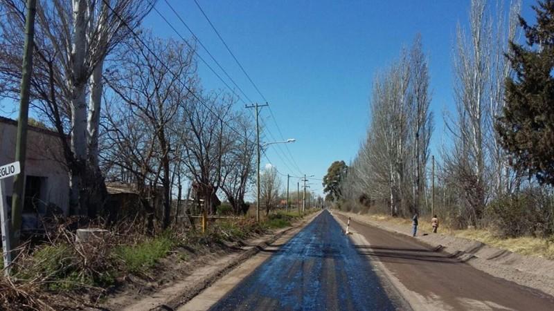 Importante mejora del carril Santos Lugares de Junín, ingreso y egreso que conecta a Rivadaviacon la Ruta 7