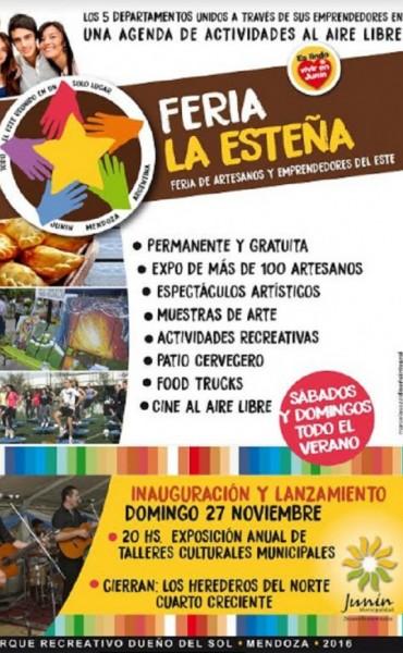 Junín tendrá su Feria de Artesanos y Emprendedores del Este