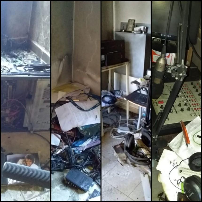 Sospechoso incendio de una radio independiente de Las Catitas, Santa Rosa