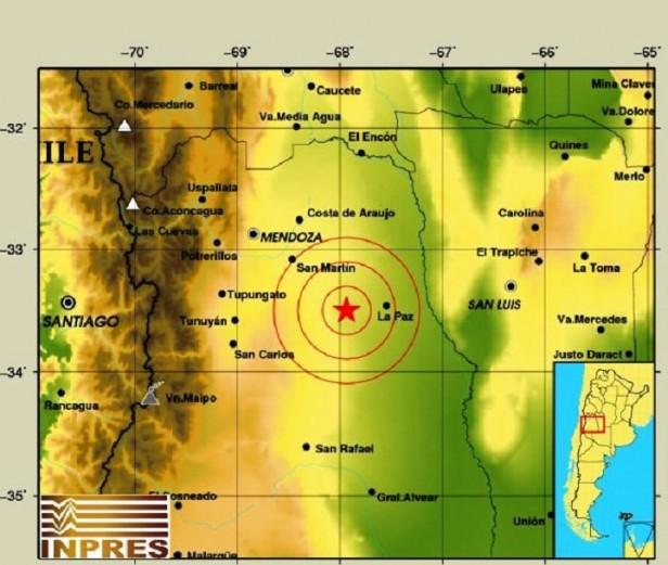 Leve temblor en La Paz se sintió en Mendoza