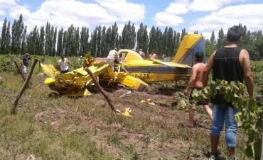 Rivadavia: Muriò un piloto al caer una avioneta fumigadora
