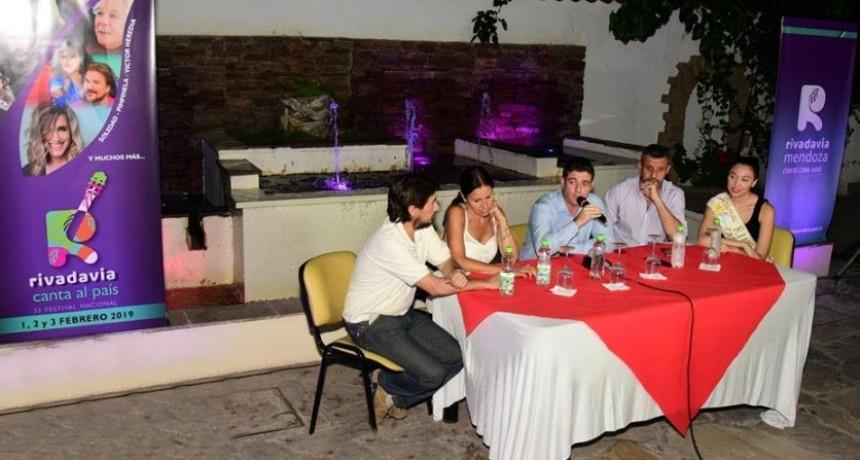 """Fue presentada la XXXIII Edición del Féstival """"Rivadavia Canta al País"""""""
