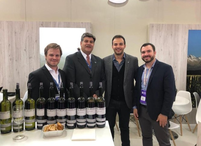 Abed participó de la 11° exposición mundial de vinos a Granel, en Holanda