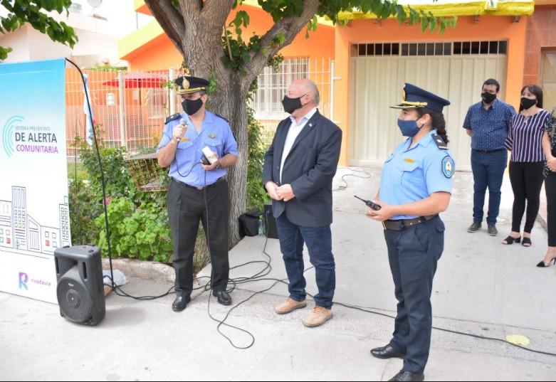 La Municipalidad de Rivadavia presentó el sistema preventivo de alerta comunitaria