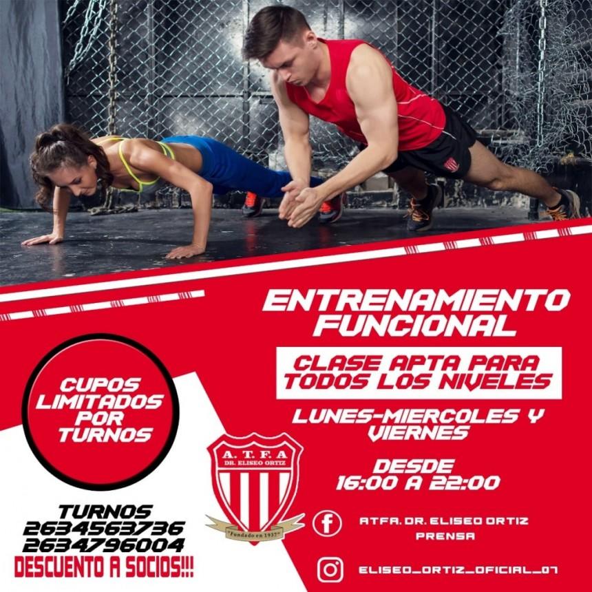 En Eliseo Ortiz: entrenamiento funcional